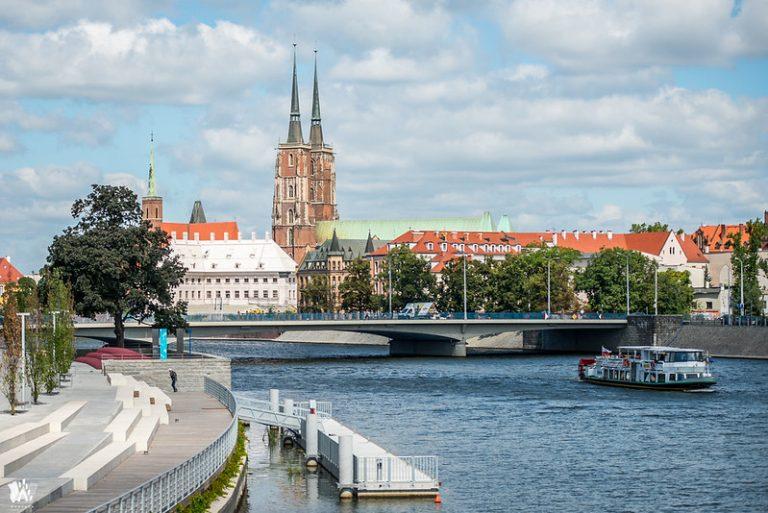 centrum Wrocławia - widok na miasto